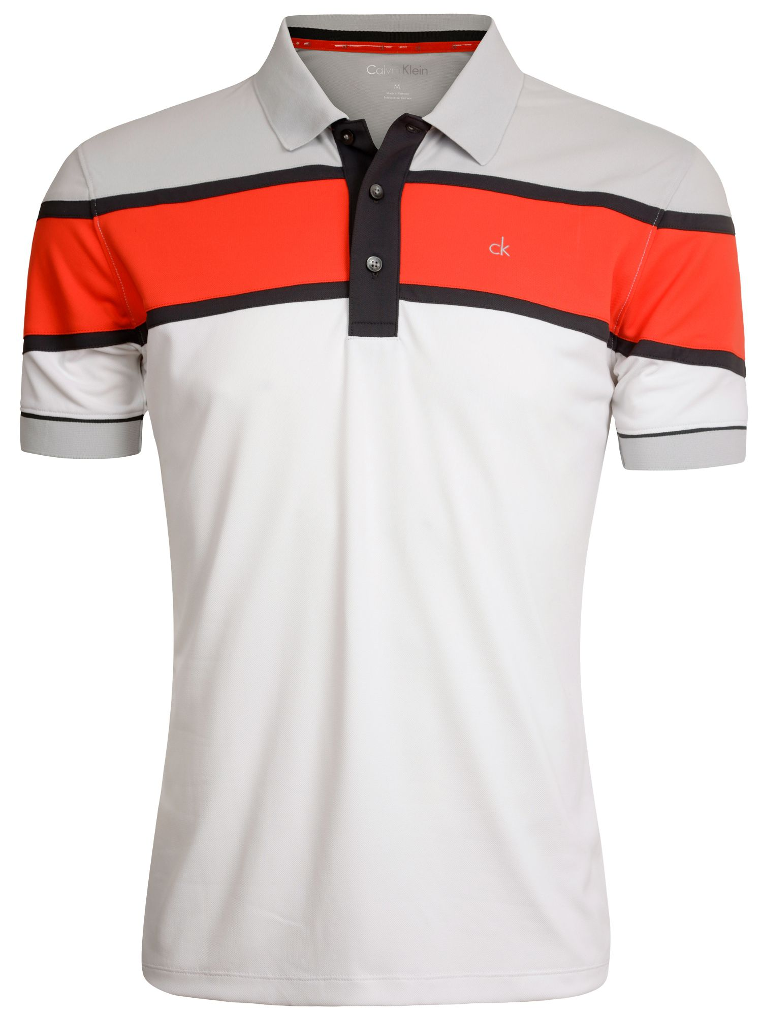 Tech colour block polo shirt