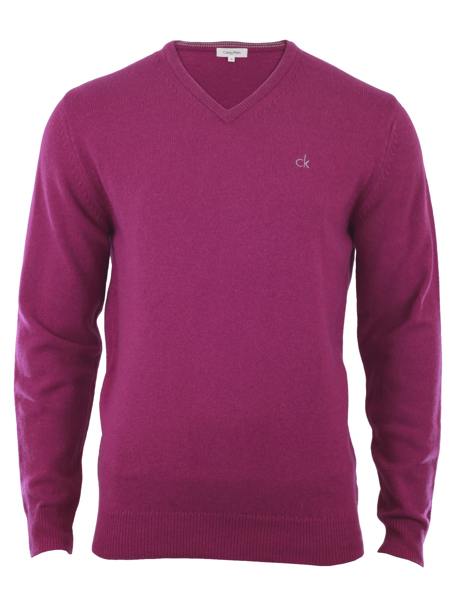 Men's Calvin Klein Golf Lambswool sweater, Raspberry