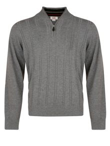 Cutter and Buck Cable zip neck sweater