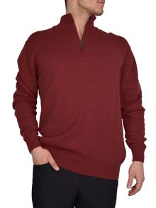 Zip neck sweater