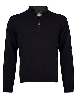 Zip neck superwool sweater
