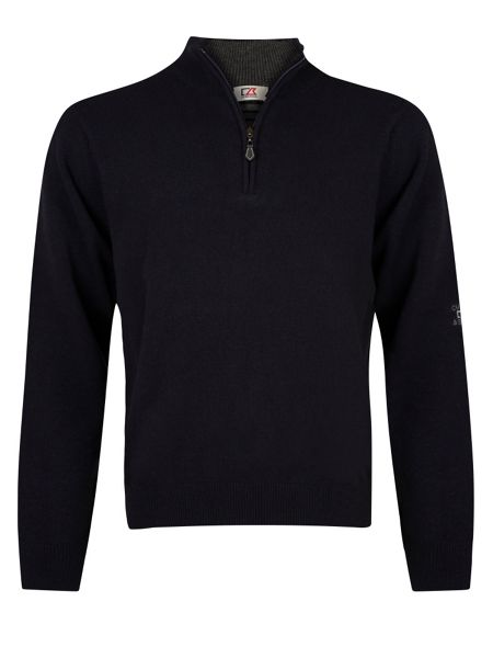 Cutter and Buck Zip neck superwool sweater