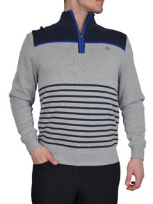 Lined stripe sweater