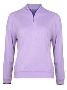 Suzanna lined 1/2 zip sweater