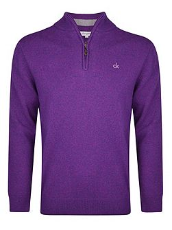 Men's Calvin Klein Golf Superwool zip neck sweater