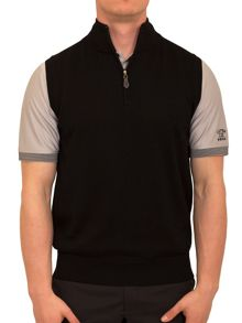 Plain Half Zip Neck Vest