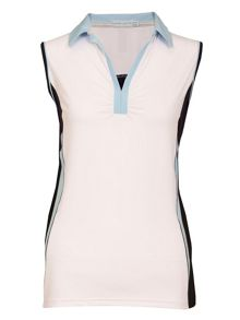 Cici sleeveless colour block shirt