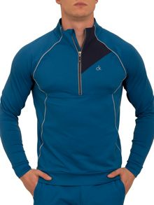Flextec Plain Half Zip Neck Jumper