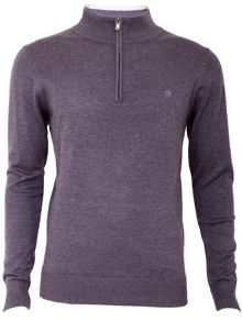 Heather half zip