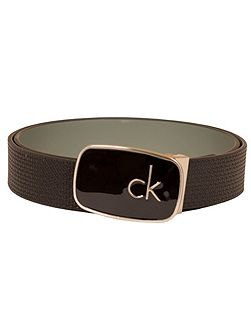 Calvin Klein Golf Buckle Leather Belt