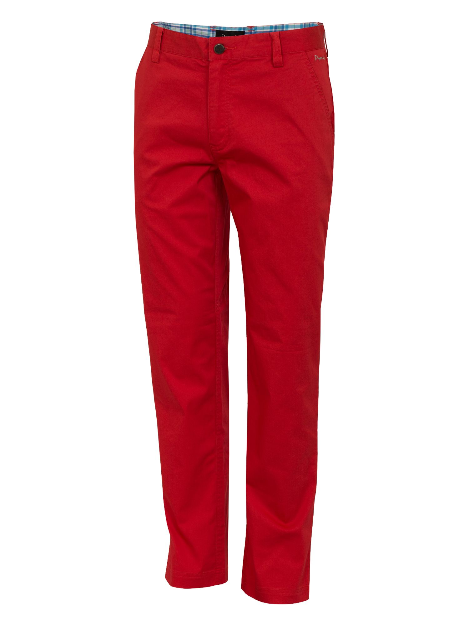 Dwyers and Co Men's Dwyers and Co Titanium chino trouser, Red