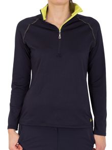 Cheryl half zip tech polo