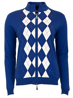 Billie lined argyle cardigan