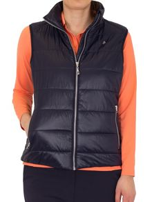 Green Lamb Jane padded gilet