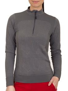 Half zip base layer