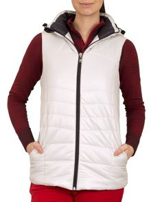 Hooded padded gilet