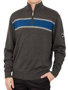 Cutter and Buck Chest Stripe Windblock Sweater