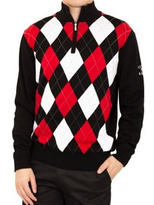 Argyle Windblock Sweater