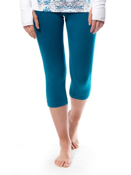 Green Lamb Soft Dri Crop Leggings