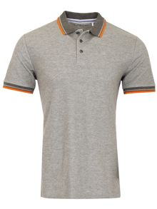 Calvin Klein Golf Stripe Collar Pique Polo