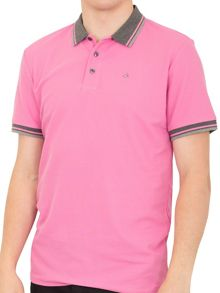 Stripe Collar Pique Polo