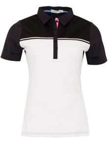 Green Lamb Carlotta mesh trimmed polo