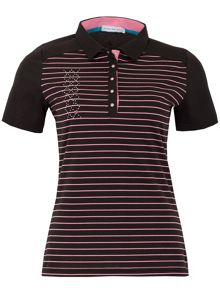 Green Lamb Courtney Striped Polo