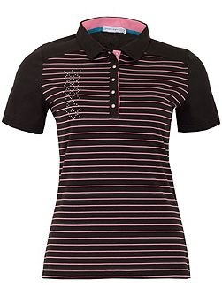 Courtney Striped Polo