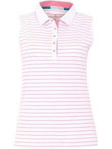 Green Lamb Cora Sleeveless Striped Polo