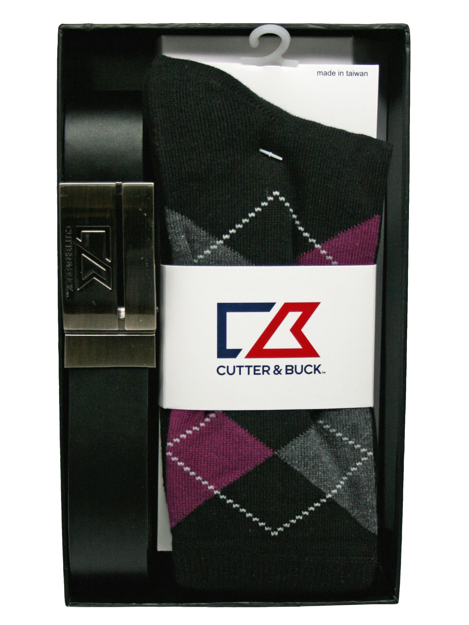 Cutter and Buck Cutter and Buck Belt And Sock Pack, Black