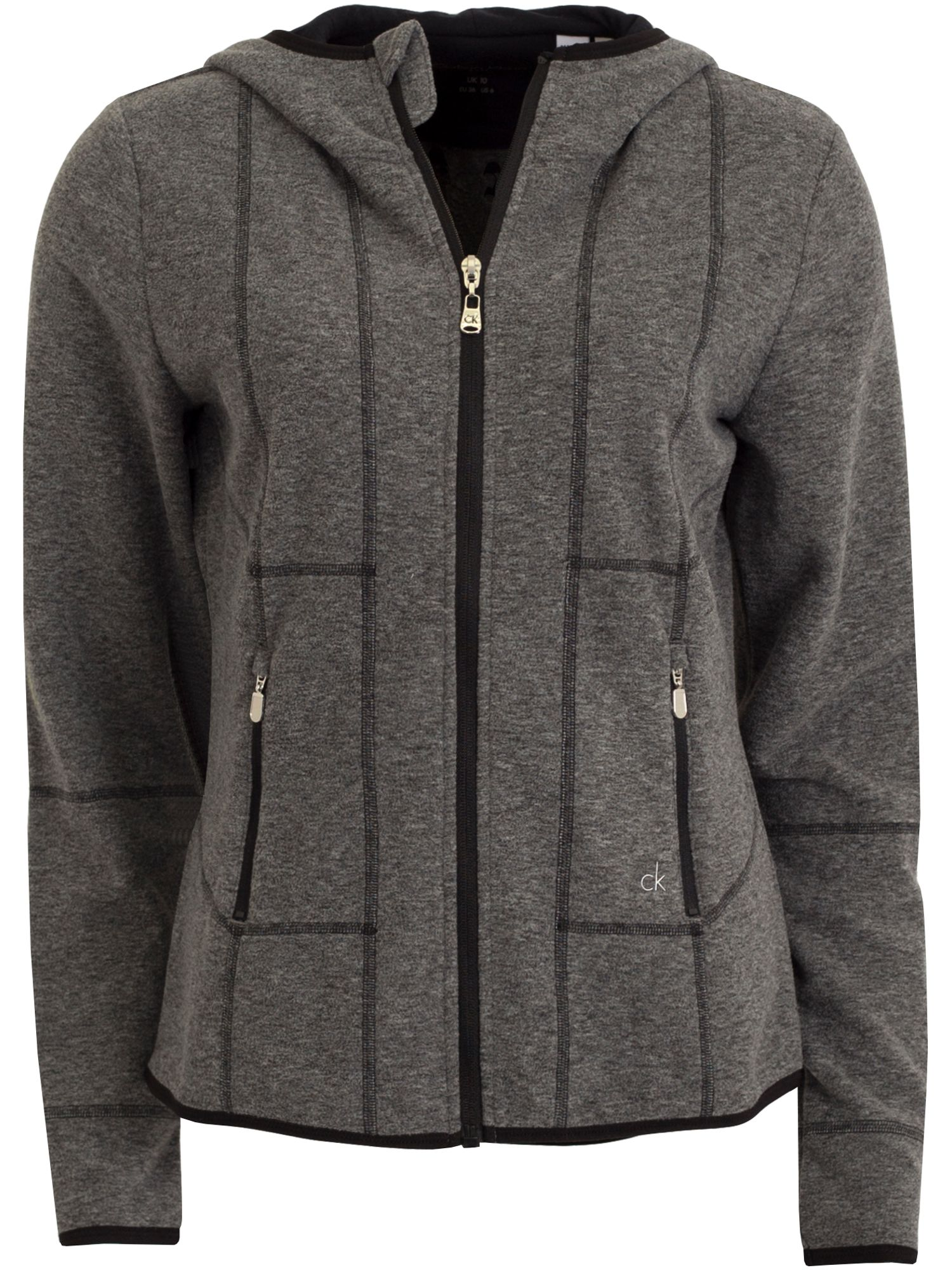 Calvin Klein Golf Hooded Fleece Jacket, Grey
