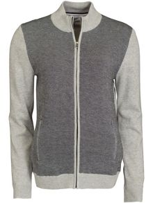 Calvin Klein Golf Textured Lined Cardigan