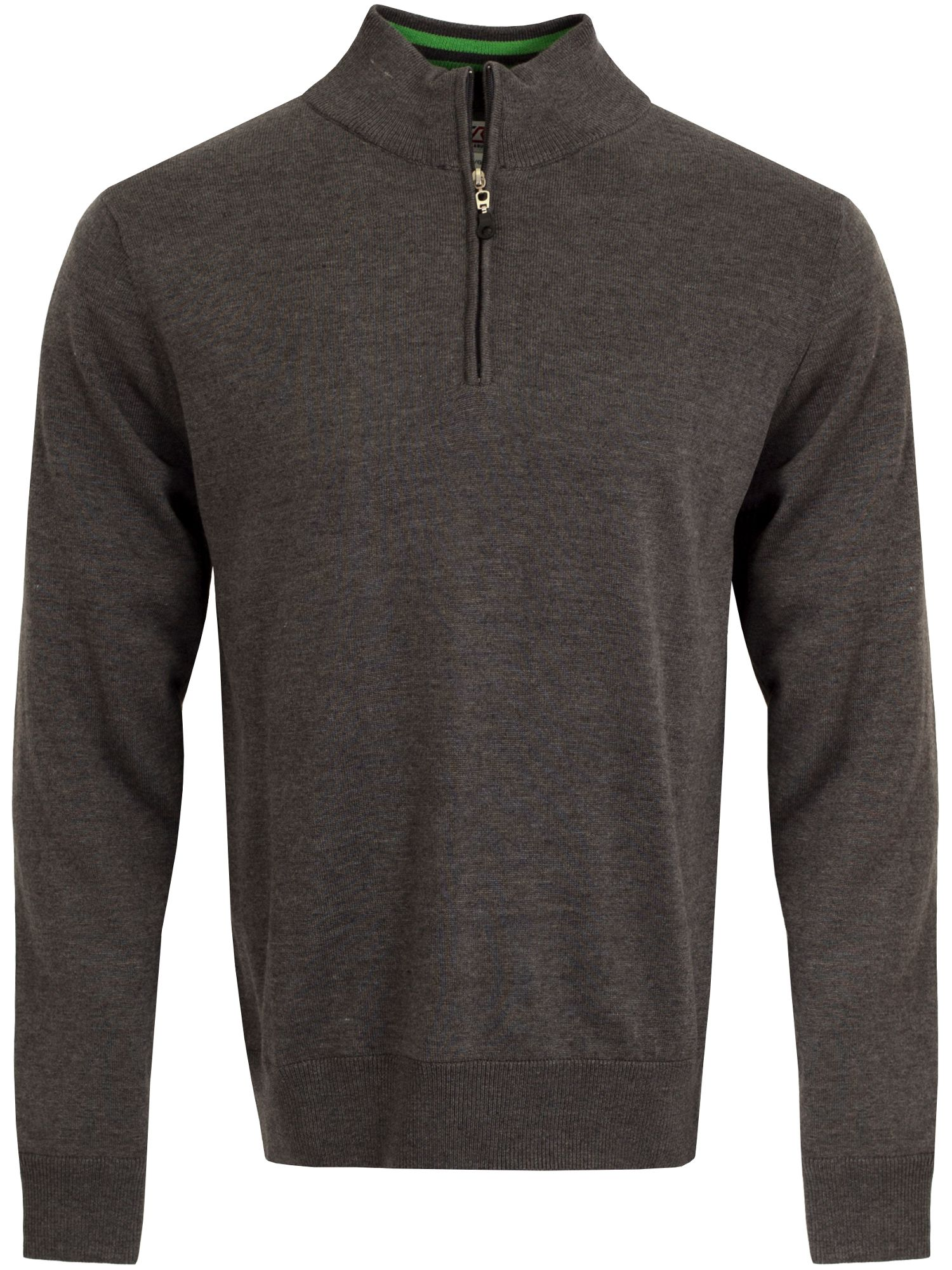 Cutter and Buck Men's Cutter and Buck Vancouver WindBlock Sweater, Charcoal