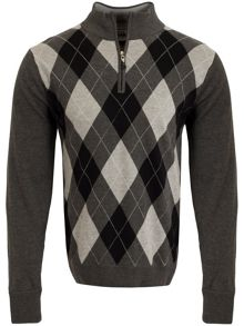 Cutter and Buck Argyle WindBlock Sweater