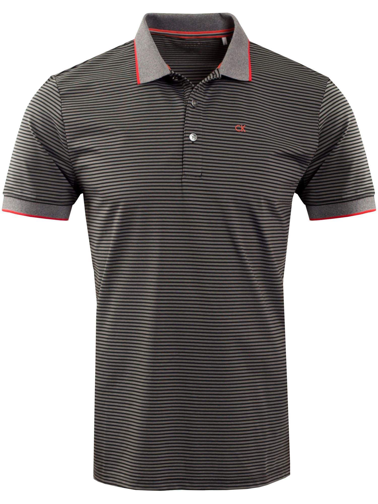Men's Calvin Klein Golf Plasma Polo, Black & Red
