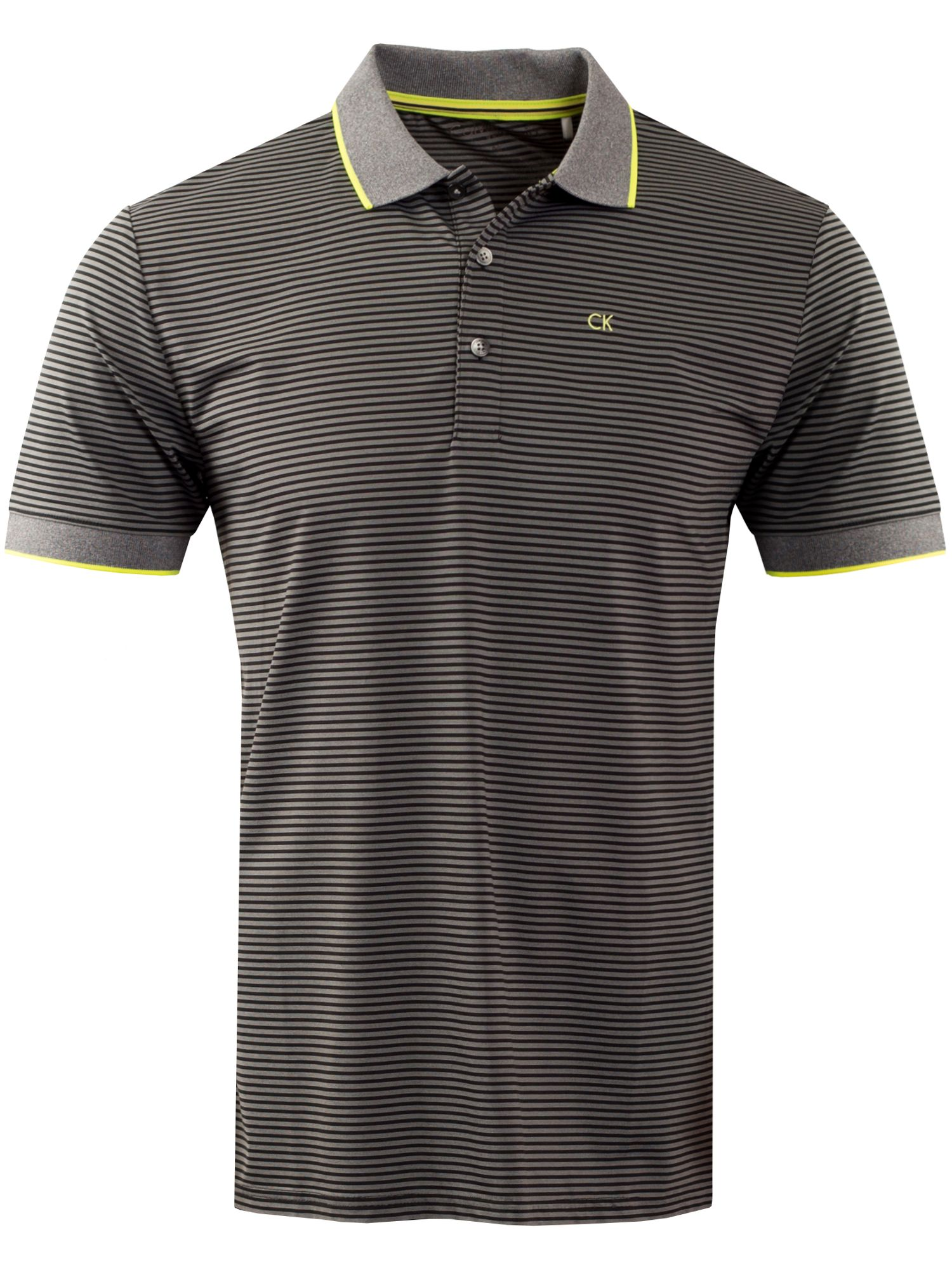 Men's Calvin Klein Golf Plasma Polo, Black Multi