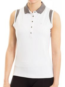 Calvin Klein Golf Knitted Trim Sleeveless Polo