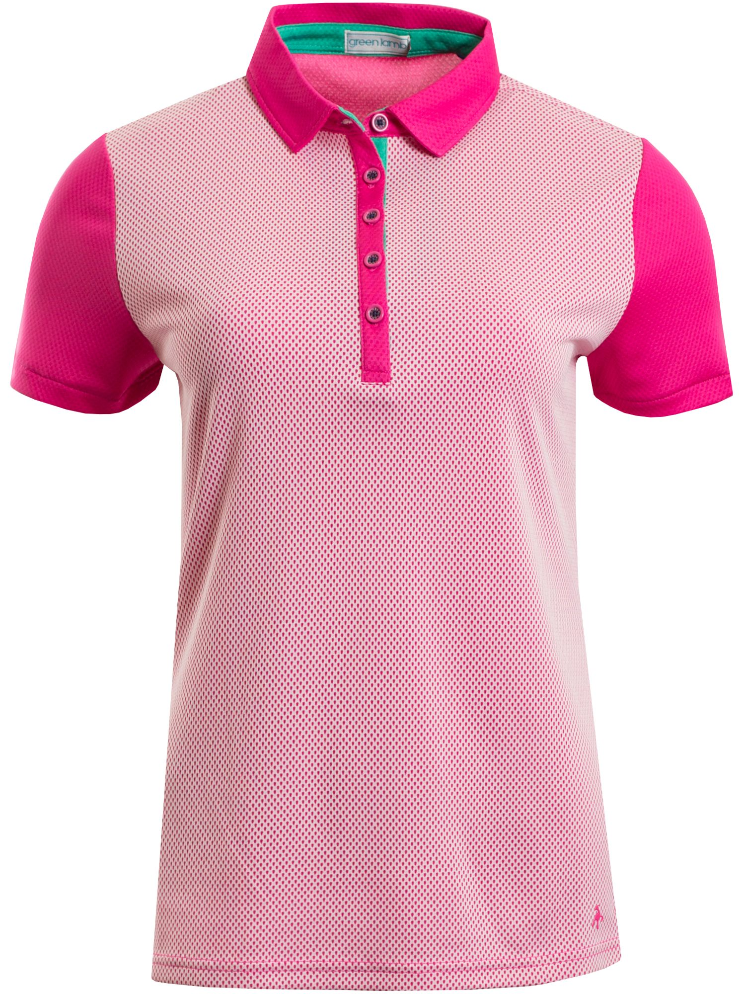 Green Lamb Fay Mesh Dot Polo, Pink