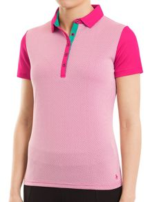 Green Lamb Fay Mesh Dot Polo