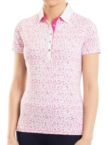 Green Lamb Frances Printed Polo