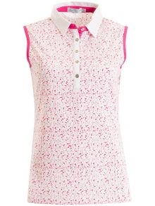 Green Lamb Freda Sleeveless Printed Polo
