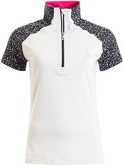 Francesca Raglan Zip Neck Polo