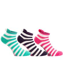 Green Lamb Dharma Stripe Socks - 3 Pair Pack