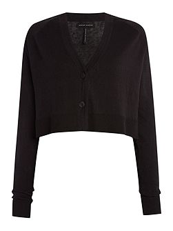 Short cardigan with long sleeves