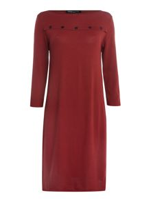 Sarah Pacini Short dress with 3/4 sleeves