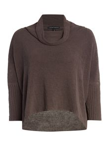 Sarah Pacini Short sweater with 3/4 sleeves