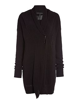 Long cardigan with long sleeves