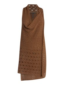 Sarah Pacini Sleeveless long cardigan