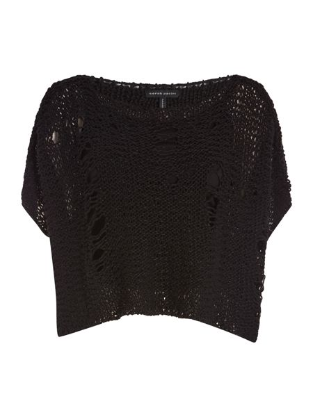 Sarah Pacini Sleevelees short sweater