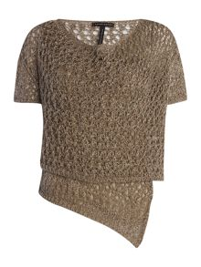 Sarah Pacini Short cardigan with short sleeves
